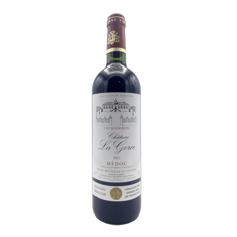 Vin rouge Medoc Chateau La Gorce